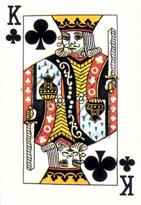 King of Clubs Postcard