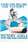 Victory Girl postcard
