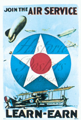 Join The Air Service Postcard