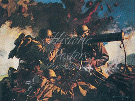Army Infantry Postcard