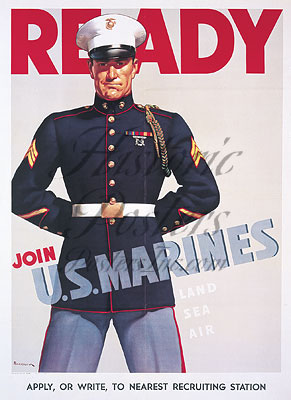 Ready Join U.S. Marines Magnet