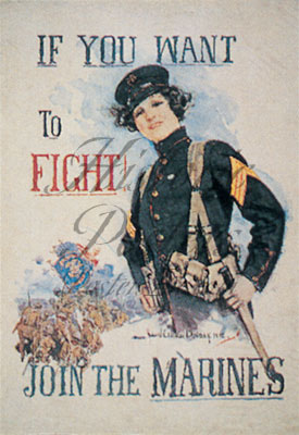 If You Want To Fight postcard