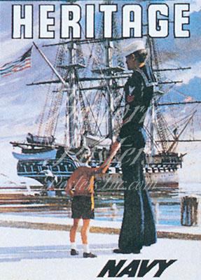 Heritage (Navy) Magnet