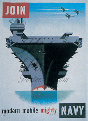Mighty Navy Postcard