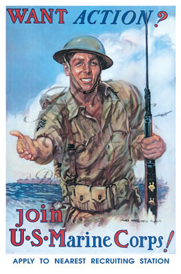 Join US Marine Corps Poster