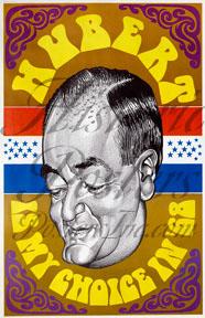 Hubert Humphrey Caricature Poster
