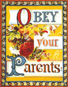 Obey Your Parents Postcard
