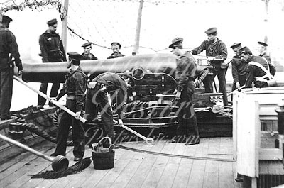 Gun Crew on Federal Warship USS Miami