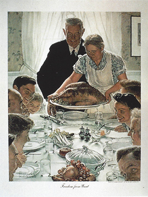 """Norman Rockwell - """"Freedom from Want"""""""