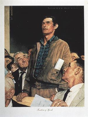 "Norman Rockwell - ""Freedom of Speech"""